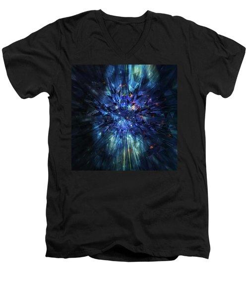 Galactic Crystal Men's V-Neck T-Shirt