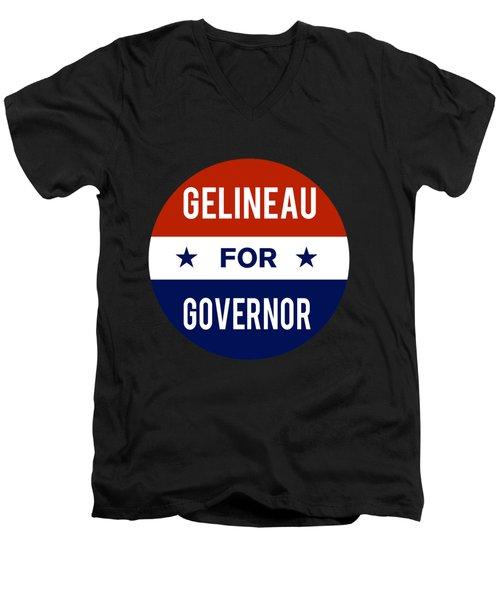 Gelineau For Governor 2018 Men's V-Neck T-Shirt