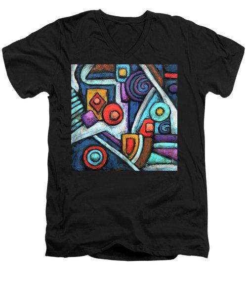 Geometric Abstract 4 Men's V-Neck T-Shirt