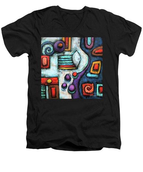 Geometric Abstract 5 Men's V-Neck T-Shirt