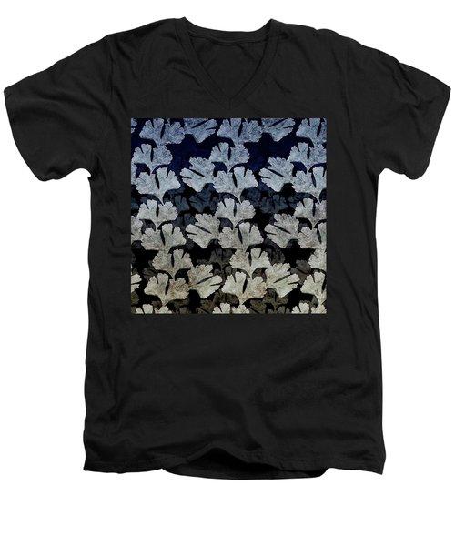 Ginko Leaf Pattern Men's V-Neck T-Shirt
