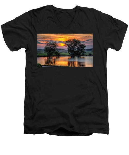 Golden Pond At 36x60 Men's V-Neck T-Shirt