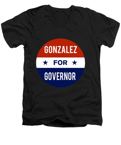 Gonzalez For Governor 2018 Men's V-Neck T-Shirt