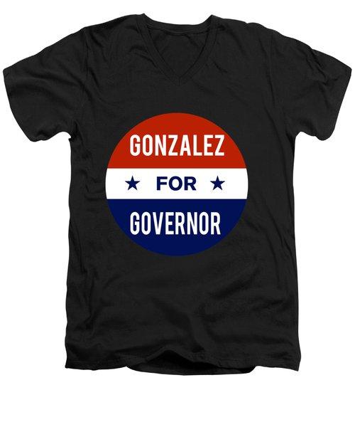 Gonzalez For Governor 2018 Men's V-Neck T-Shirt