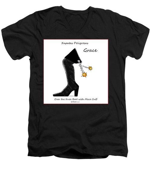 Grace Wall Art Men's V-Neck T-Shirt