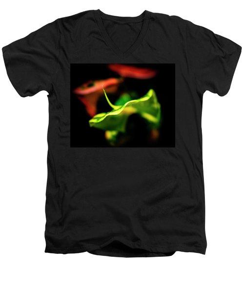 Green Croton Men's V-Neck T-Shirt