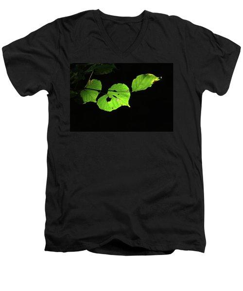 Green Leaves Men's V-Neck T-Shirt