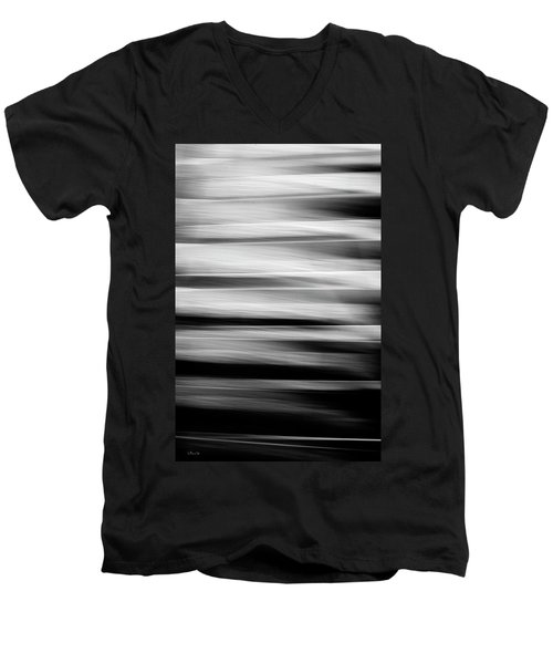 Abstract Waves Men's V-Neck T-Shirt