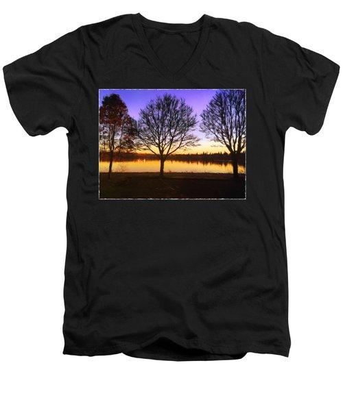 Greenlake Dawn Intensity Men's V-Neck T-Shirt