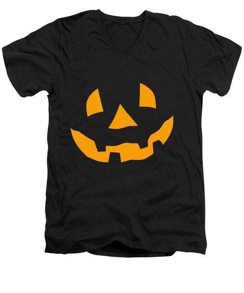 Halloween Pumpkin Tee Shirt Men's V-Neck T-Shirt