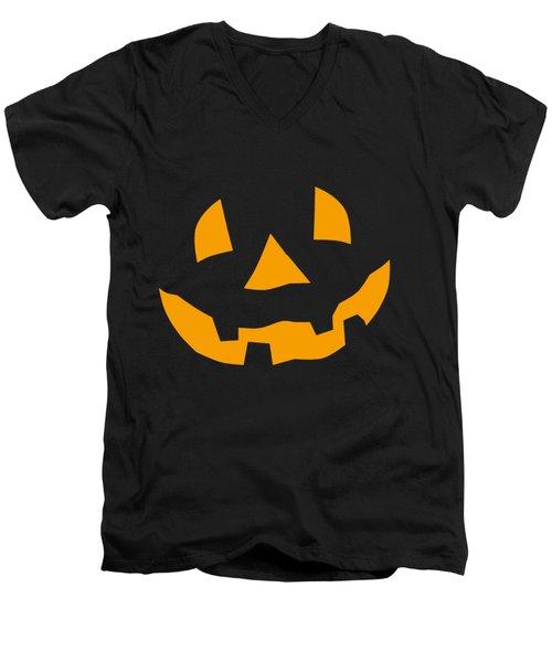 Halloween Pumpkin Tee Shirt Men's V-Neck T-Shirt