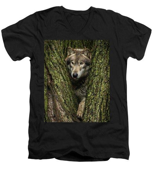 Hangin In The Tree Men's V-Neck T-Shirt