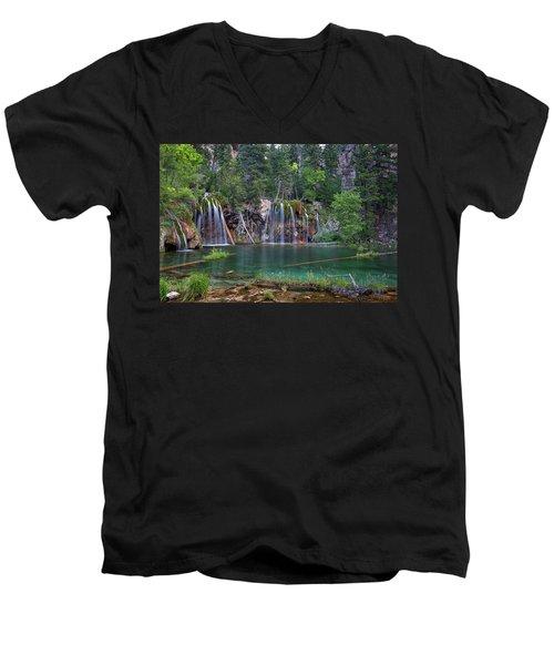 Hanging Lake Colorado Men's V-Neck T-Shirt