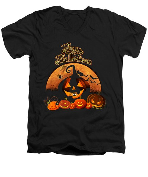 Happy Halloween Men's V-Neck T-Shirt