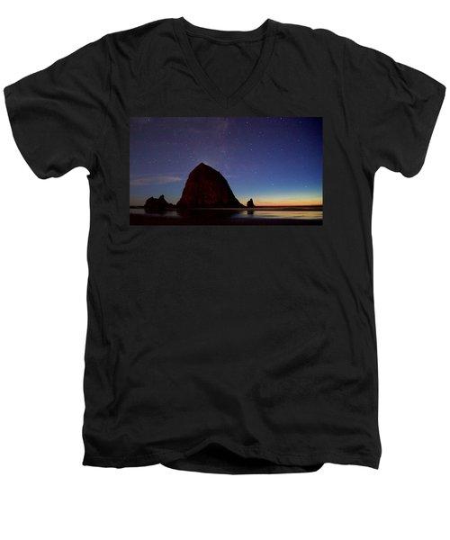 Haystack Night Sky Men's V-Neck T-Shirt