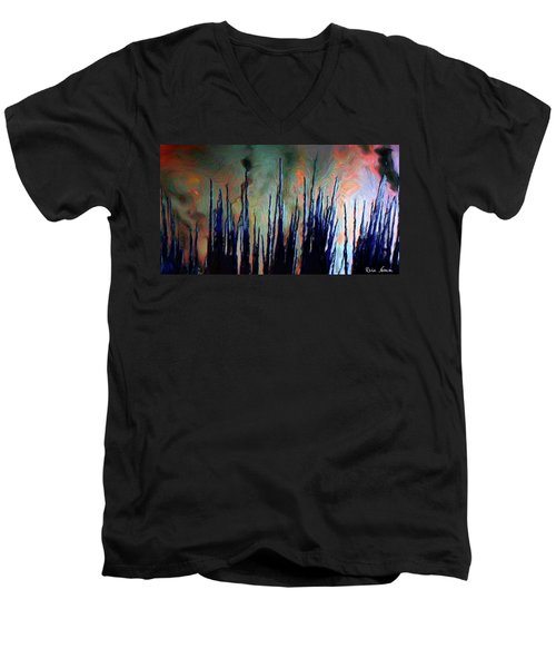 Hiding In The Tall Grass Men's V-Neck T-Shirt