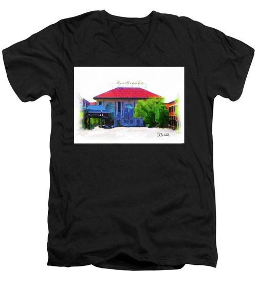 Historic Rio Grande Station Men's V-Neck T-Shirt
