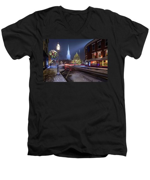 Holiday Magic, Market Square Men's V-Neck T-Shirt