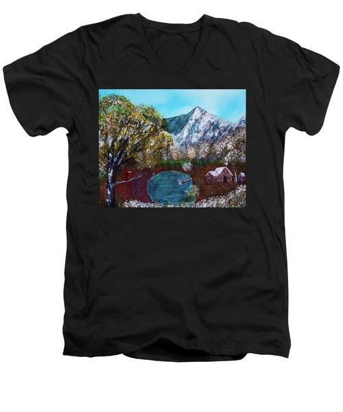 Home Time Men's V-Neck T-Shirt