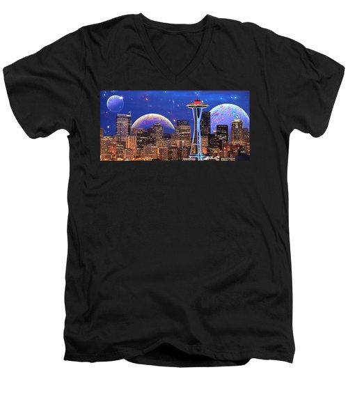 Imagine The Night Men's V-Neck T-Shirt
