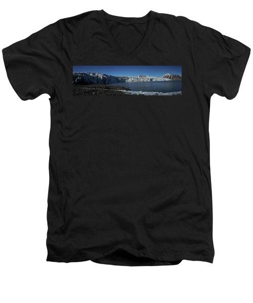 In Front Of A Glacier On Svalbard Men's V-Neck T-Shirt