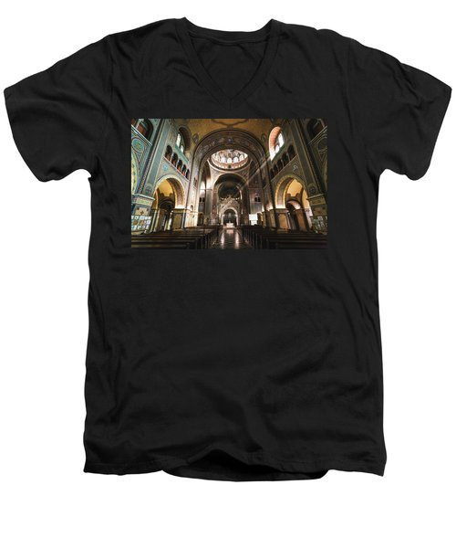 Interior Of The Votive Cathedral, Szeged, Hungary Men's V-Neck T-Shirt