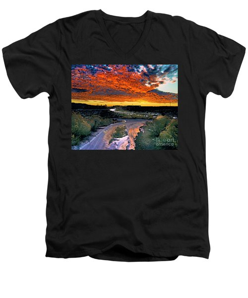 January Sunset Men's V-Neck T-Shirt