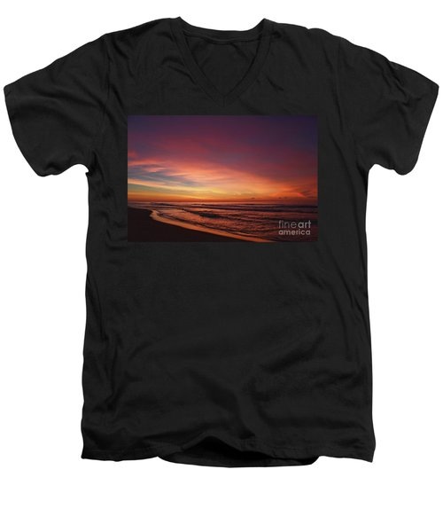 Jersey Shore Sunrise Men's V-Neck T-Shirt