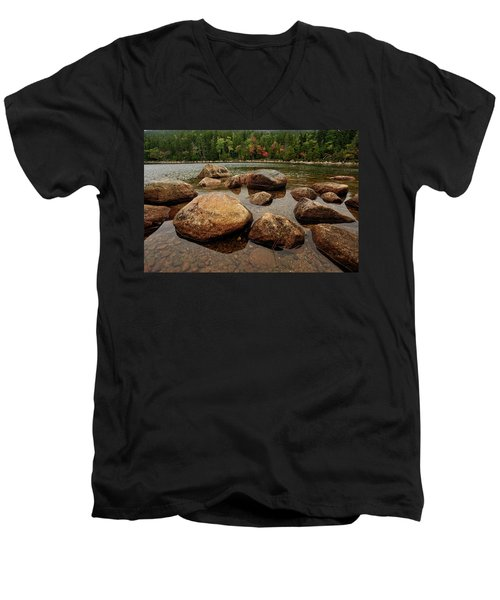 Jordon Pond Boulders Men's V-Neck T-Shirt