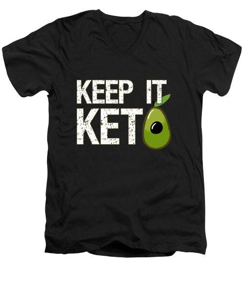 Keep It Keto Men's V-Neck T-Shirt