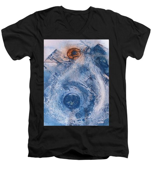 Men's V-Neck T-Shirt featuring the painting  La Donna Del Lago by 'REA' Gallery