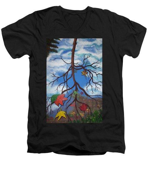 Lake Reflections - Autumn Men's V-Neck T-Shirt