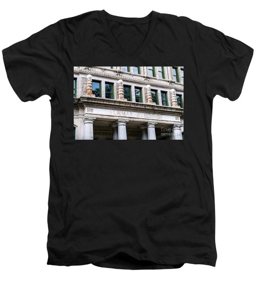 Lamar Building - Augusta Ga Men's V-Neck T-Shirt