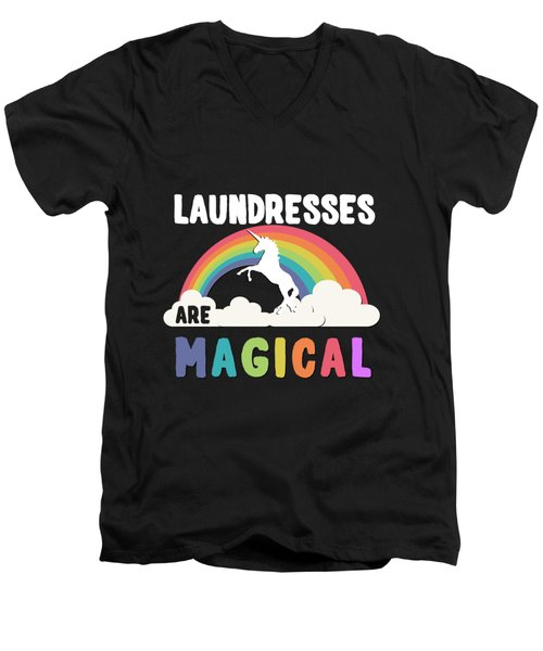 Laundresses Are Magical Men's V-Neck T-Shirt