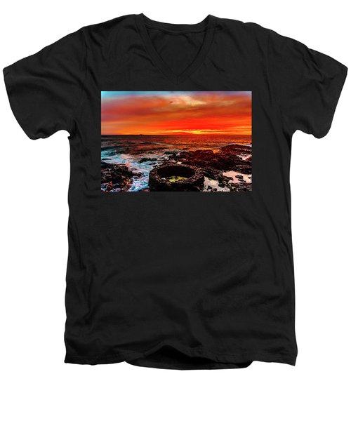 Lava Bath After Sunset Men's V-Neck T-Shirt
