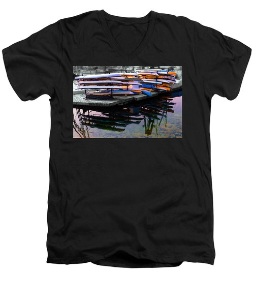 Layers And Layers By The Water Men's V-Neck T-Shirt