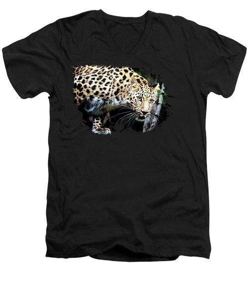 Leopard Canvas Print, Photographic Print, Art Print, Framed Print, Greeting Card, Iphone Case, Men's V-Neck T-Shirt