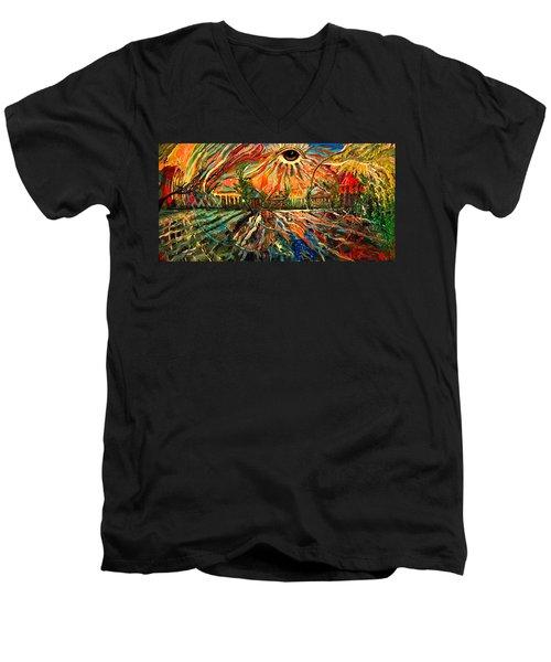 Let Love Shine Men's V-Neck T-Shirt