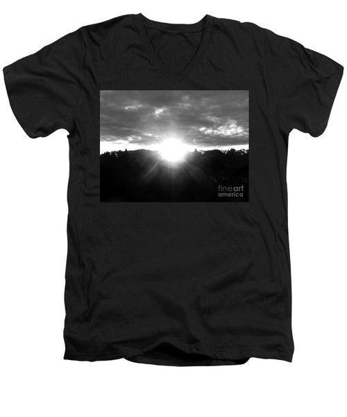 Men's V-Neck T-Shirt featuring the photograph Light Of Hope by Rockin Docks