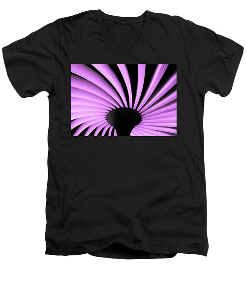 Lilac Fan Ceiling Men's V-Neck T-Shirt