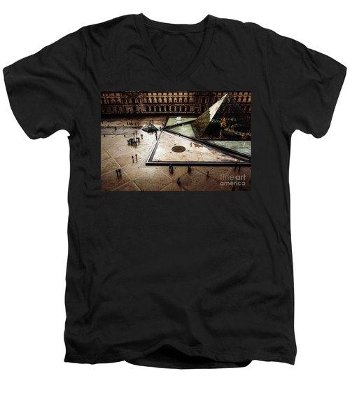 Louvre Pyramid Men's V-Neck T-Shirt