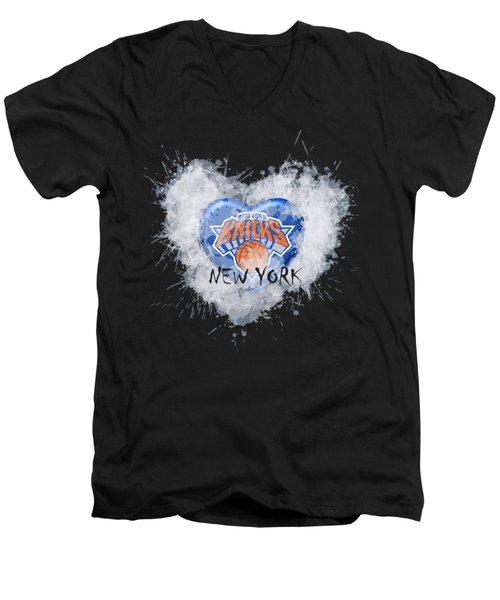 lOVE nEW yORK kICKS Men's V-Neck T-Shirt