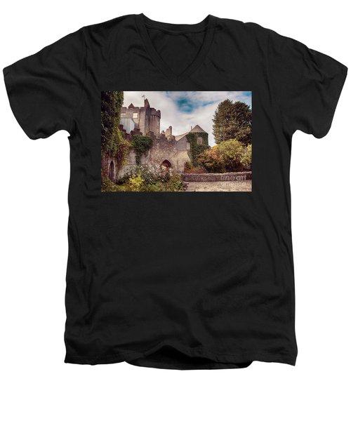Malahide Castle By Autumn  Men's V-Neck T-Shirt