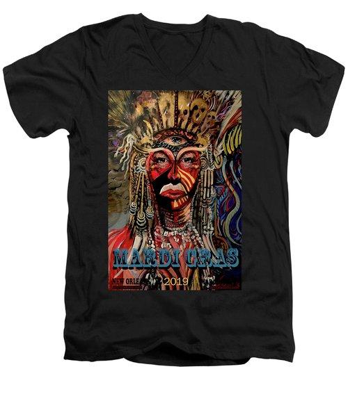 Mardi Gras 2019 Men's V-Neck T-Shirt