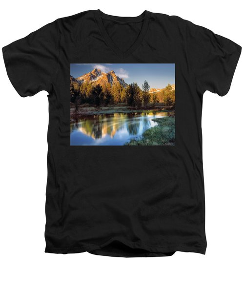 Mcgown Peak Sunrise  Men's V-Neck T-Shirt