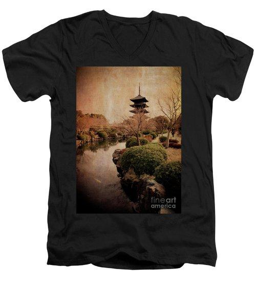 Memories Of Japan 2 Men's V-Neck T-Shirt