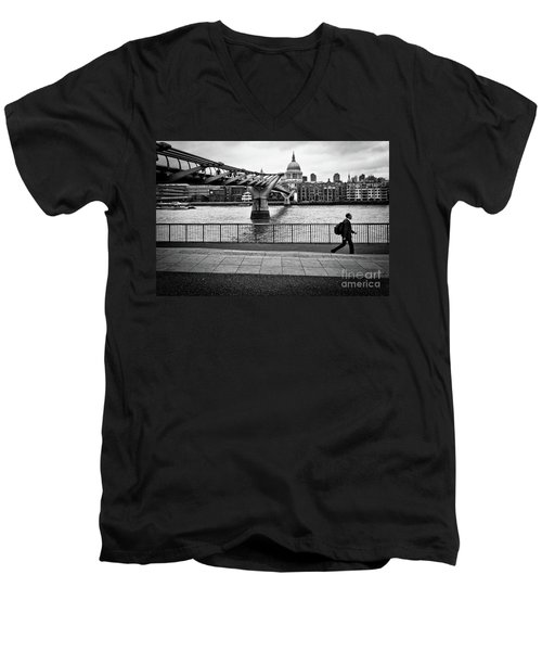 millennium Bridge 02 Men's V-Neck T-Shirt