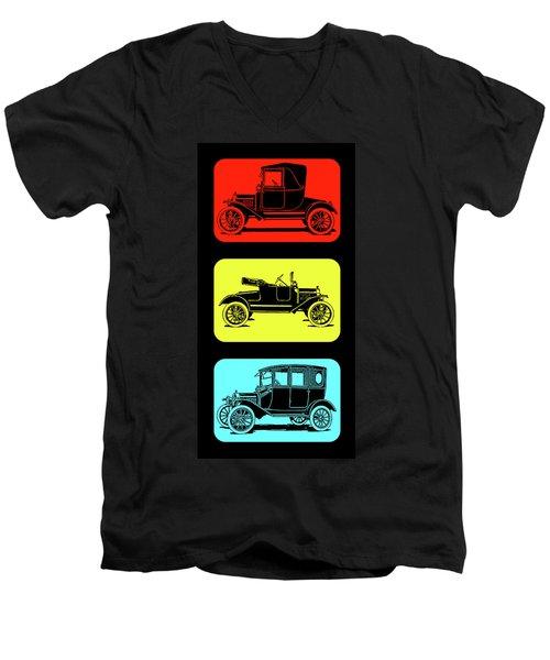 Model T Ford Triple Men's V-Neck T-Shirt