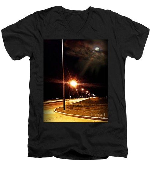 Moonlight Walk Men's V-Neck T-Shirt
