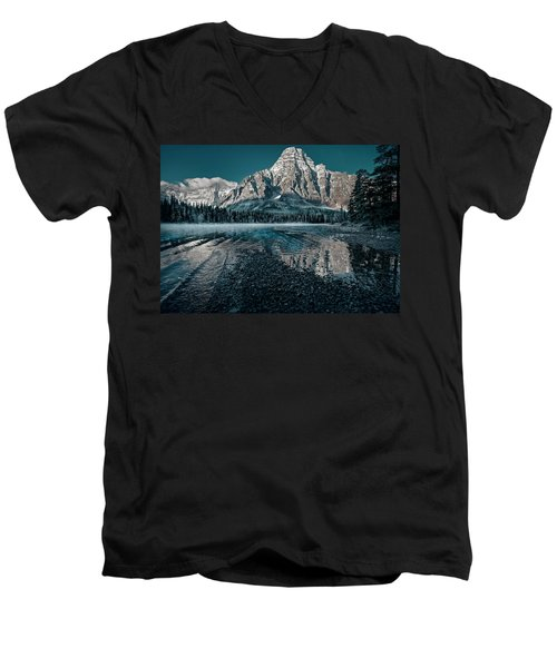 Mount Chephren Reflected Men's V-Neck T-Shirt